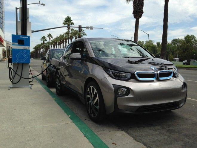 The lightweight, compact DC Fast Charger will power 80% of the BMW i3's battery in 30 minutes.