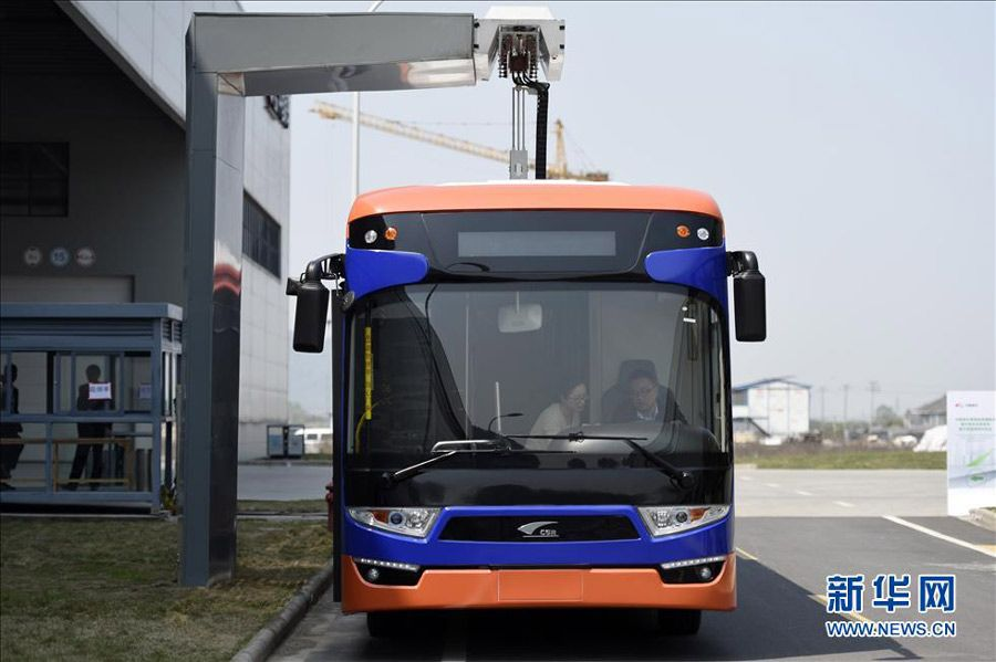 China fast charging electric bus