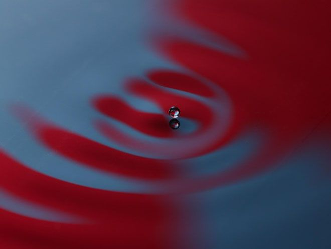 A droplet bouncing on the surface of a liquid has been found to exhibit many quantum-like properties, including double-slit interference, tunneling and energy quantization.