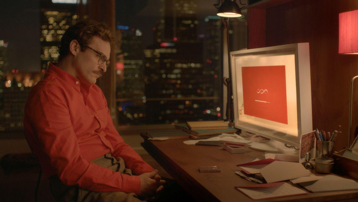 Joaquin Phoenix talking to his iOS girlfriend Samantha in Her.