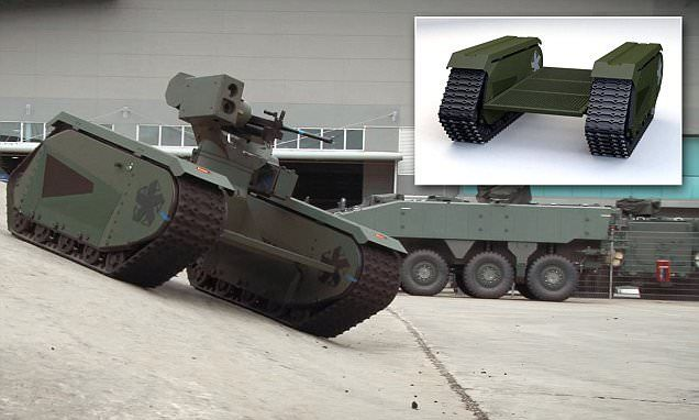 A shape-shifting robot could work alongside human troops to bring military capabilities to the next level. The unmanned ground vehicle developed by Estonian defence company Milrem has an adaptable build, so components can be swapped out to suit the needs of different missions