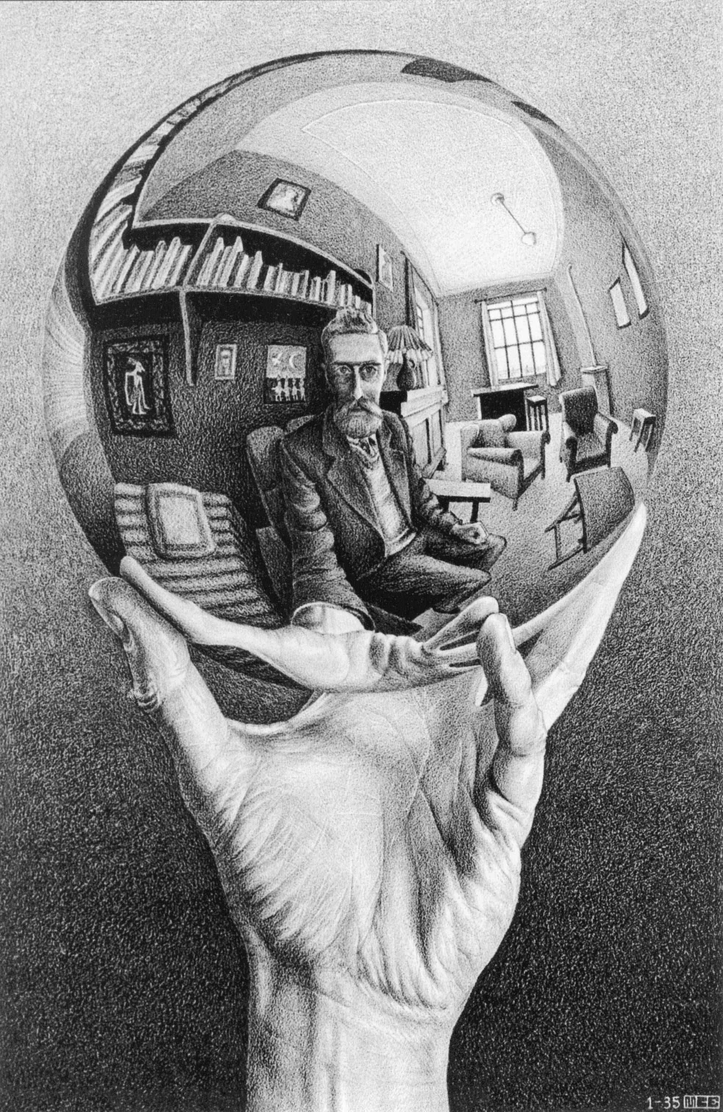Escher.HandSphereLR