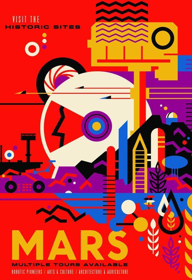 mars-1-nasa-Vintage-space-posters
